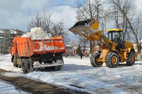 Вывоз снега с погрузкой в Москве