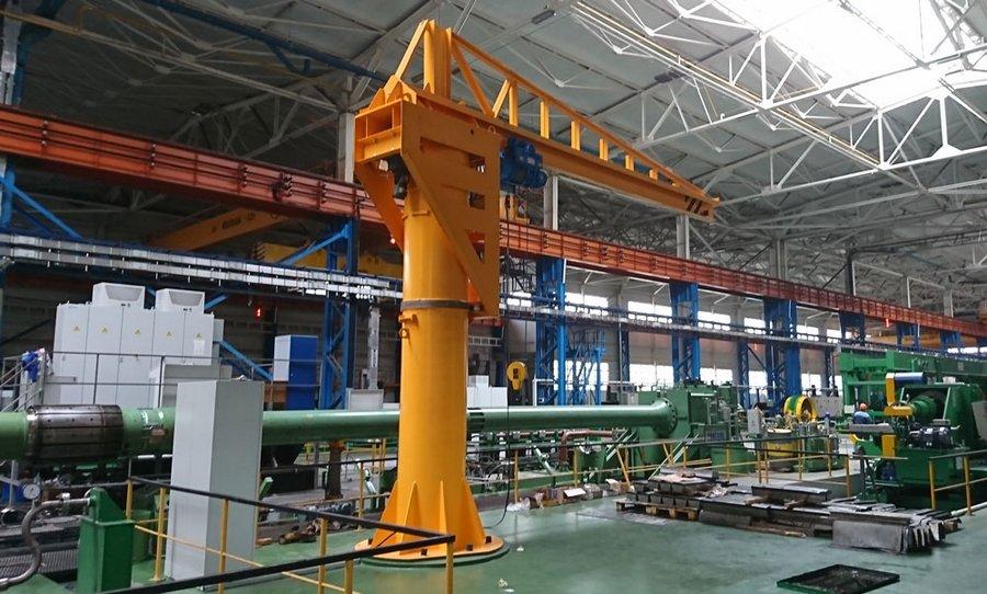 Производство консольных кранов для максимальной грузоподъемности