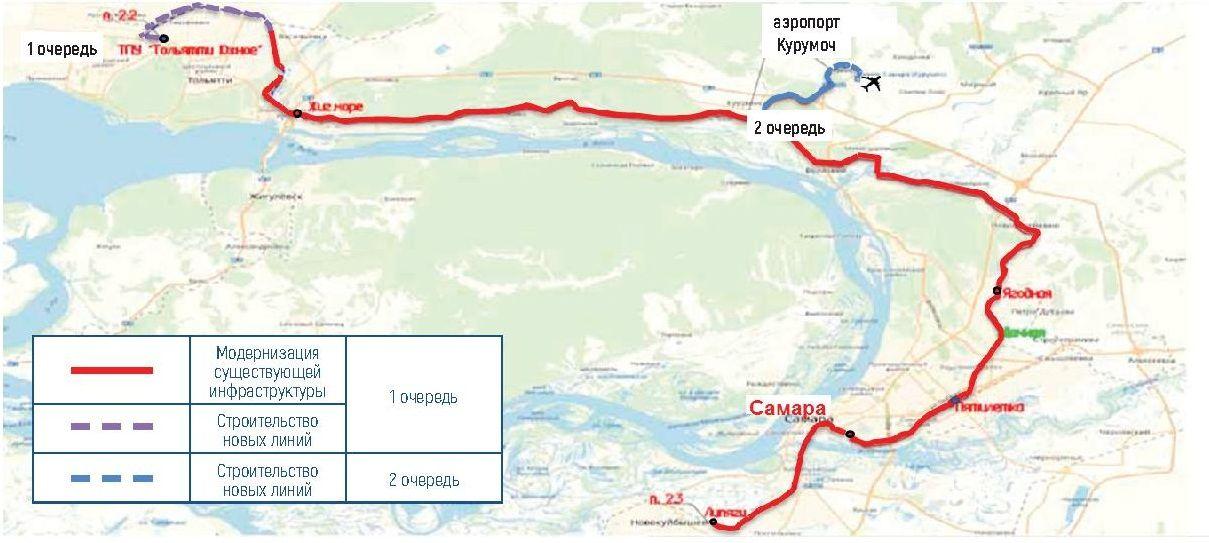 Расстояние от Самары до Тольятти и точный маршрут