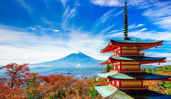 Популярные туристические места Японии за городом