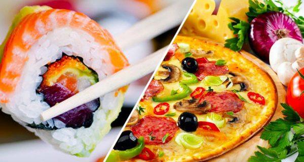 Доставка суши и пиццы в Днепре